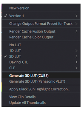 Custom 3D LUT Import