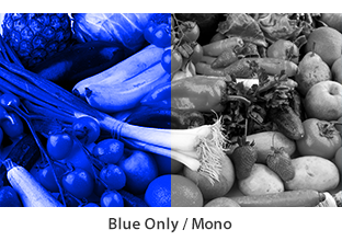 blue only